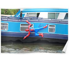 Spiderman Cleaning his Boat Poster