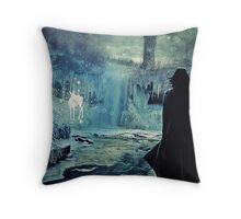 The Silver Doe BIG/Harry Potter Throw Pillow