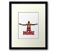 Lebron James - Return of the king Framed Print