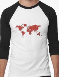 redbubble world Men's Baseball ¾ T-Shirt