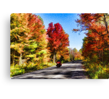 Colorful Bike Ride - Impressions Of Fall Canvas Print