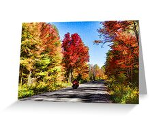 Colorful Bike Ride - Impressions Of Fall Greeting Card