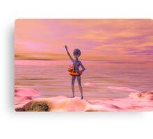 Blue Man Beach Canvas Print