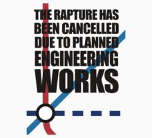 The Rapture Has Been Cancelled Due To Planned Engineering Works Kids Clothes