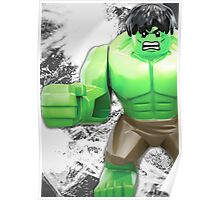 Lego Hulk Poster