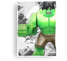 Lego Hulk (with border) Canvas Print