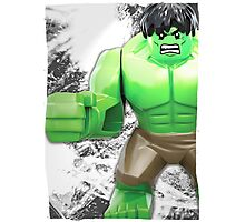 Lego Hulk (with border) Photographic Print