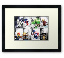 Lego Superheroes!! Framed Print