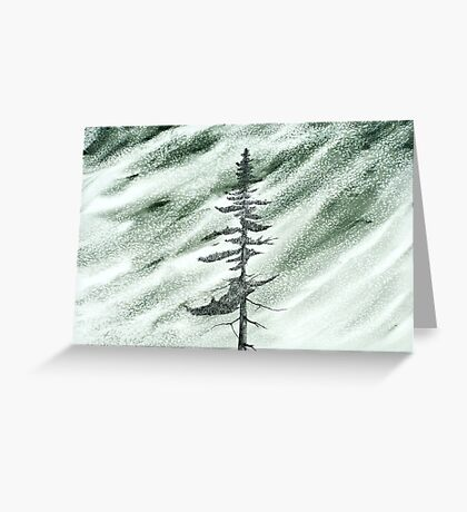 Portrait of an Evergreen in Snowstorm Greeting Card