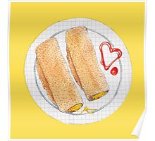 Cheesy Oatcakes Poster