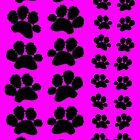Paw Prints on Pink by amanda metalcat dodds