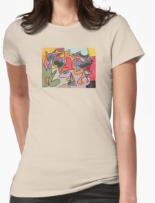Shades of abstraction Womens Fitted T-Shirt