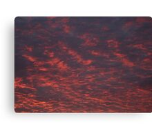 Fiery Sky Abstract Canvas Print