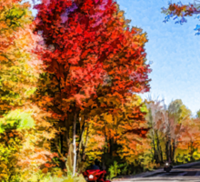 Colorful Bike Ride - Impressions Of Fall Sticker