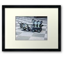 Pulling My Weight Framed Print