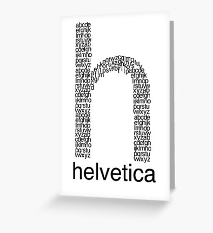 Helvetica Greeting Card