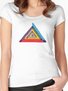 Colours of Illuminati Women's Fitted Scoop T-Shirt