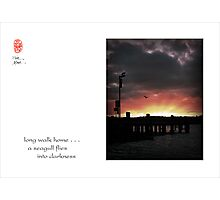 long walk home Photographic Print