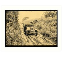 American Indians on way to the Berry Fields Little Fork, Minnesota, USA - all products Art Print