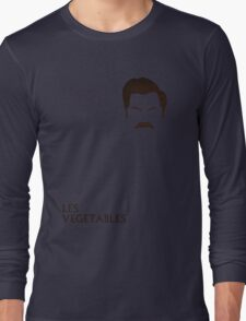 Ron Swanson, I mean Les, Les Vegetables Long Sleeve T-Shirt