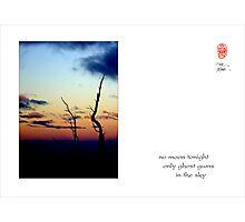 no moon Photographic Print