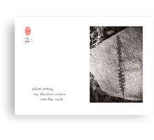 silent sitting Canvas Print