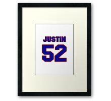 National football player Justin Cole jersey 52 Framed Print