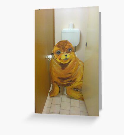 toilette fun01 Greeting Card