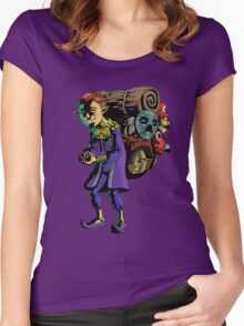 Everybody's Favorite Mask Salesman  Women's Fitted Scoop T-Shirt