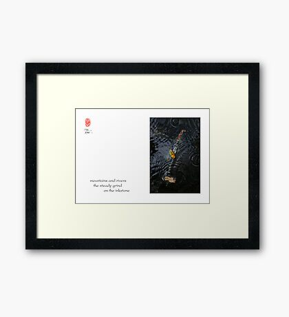 mountains and rivers Framed Print