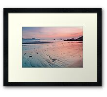 Sunset along the coast Framed Print