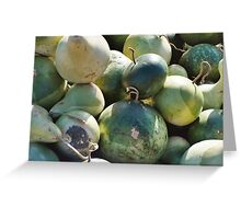 Green Gourds Greeting Card