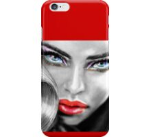 Blue Eyes Sensual sw iPhone Case/Skin