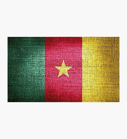 Cameroon Flag Photographic Print