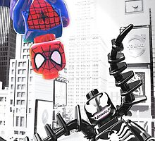 Lego Spiderman vs. Venom in the city (vert) by steinbock