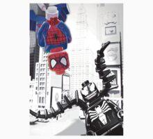 Lego Spiderman vs. Venom in the city (vert) Kids Clothes
