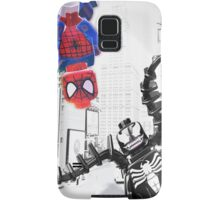 Lego Spiderman vs. venom in the city (with border) Samsung Galaxy Case/Skin