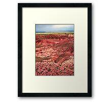 Painted Desert Landscape Framed Print