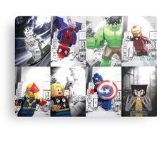 8 Lego Super Heroes! Metal Print