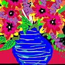 May Flower Pot by catherine walker