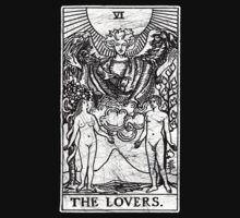 The Lovers Tarot Card - Major Arcana - fortune telling - occult by createdezign
