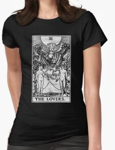 The Lovers Tarot Card - Major Arcana - fortune telling - occult Womens Fitted T-Shirt