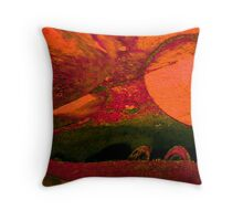 Alien World Throw Pillow