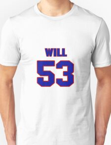 National football player Will Herring jersey 53 T-Shirt
