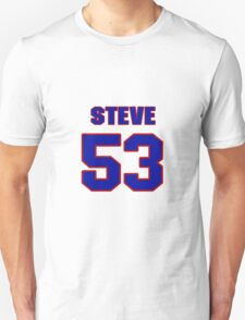 National football player Steve Justice jersey 53 T-Shirt