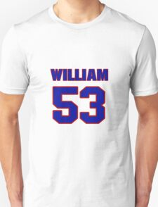 National football player William Kershaw jersey 53 T-Shirt