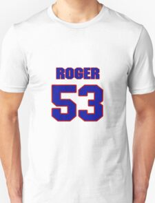 National football player Roger LeClerc jersey 53 T-Shirt