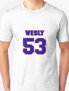 National football player Wesly Mallard jersey 53 T-Shirt