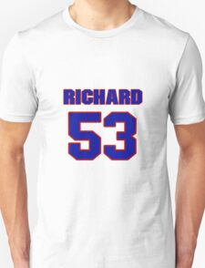 National football player Richard Newbill jersey 53 T-Shirt