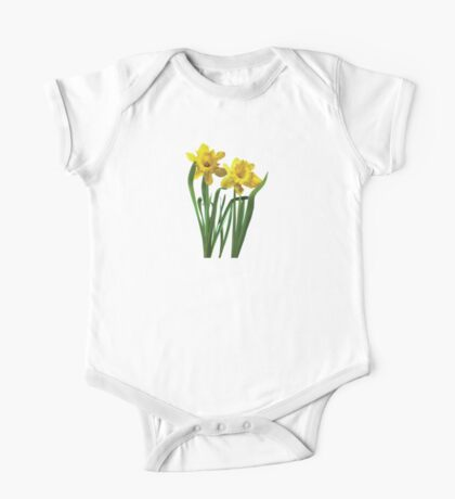 Daffodils At Attention One Piece - Short Sleeve